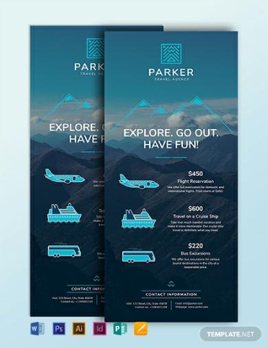 travel agency rack card