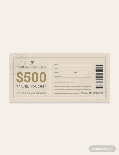 travel ticket voucher