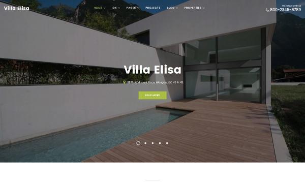 villa property website for real estate business