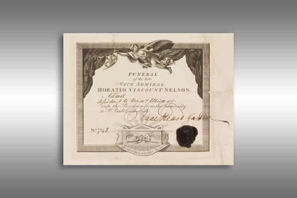 vintage funeral invitation