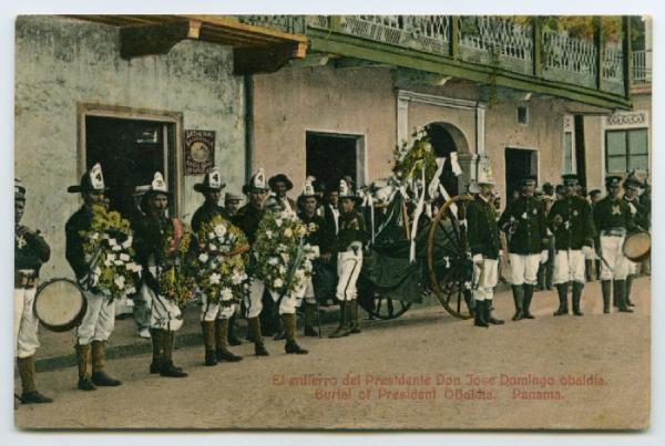 vintage funeral postcard