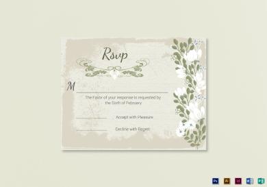 vintage wedding rsvp card