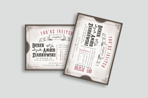 wedding announcement invitation ticket