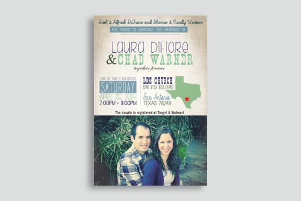 wedding announcement invitation