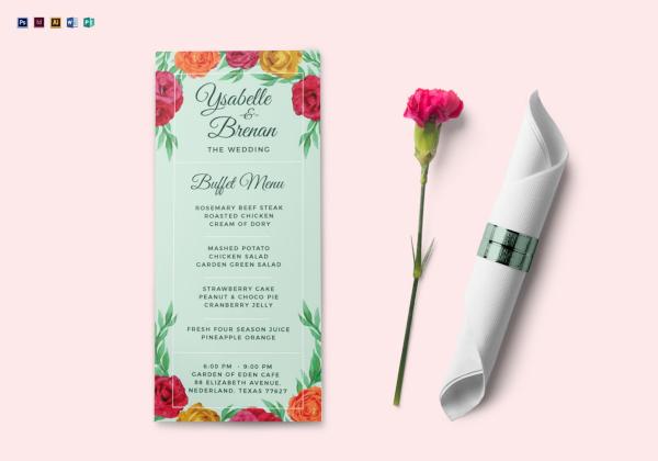 wedding buffet menu