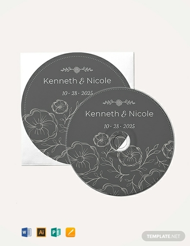 wedding cd label