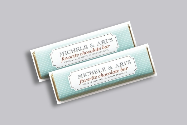 wedding chocolate bar label