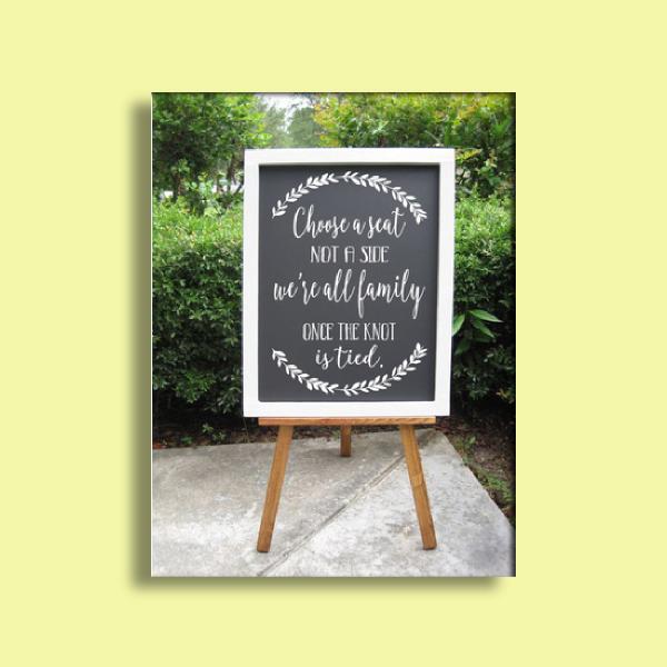 wedding decal sign