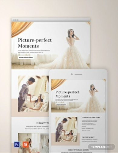 wedding email newsletter template