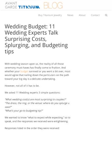 wedding experts wedding budget