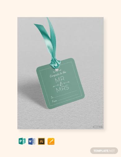 wedding gift label