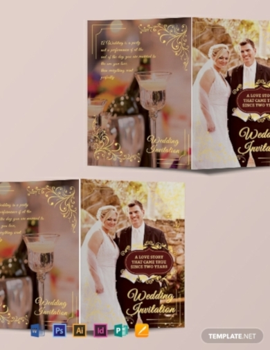 wedding invitation bi fold brochure