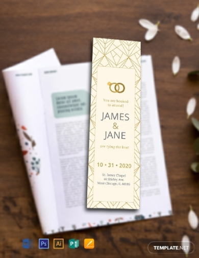 wedding invitation bookmark