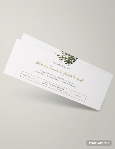 wedding invitation ticket1