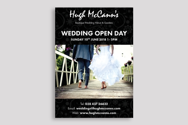 wedding open day poster