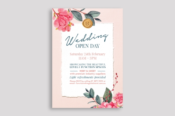 wedding open day showcase poster
