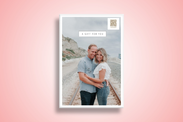 wedding photo shoot gift card