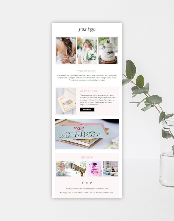 wedding photographer marketing email newsletter