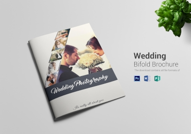 wedding photography bi fold brochure