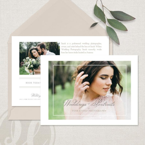 wedding photography branding marketing flyer