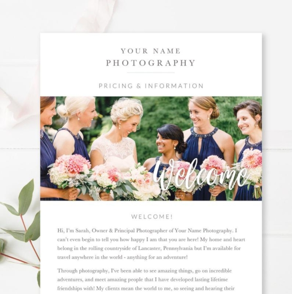 wedding photography email newsletter