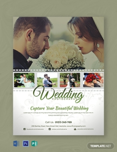 wedding photography flyer template1