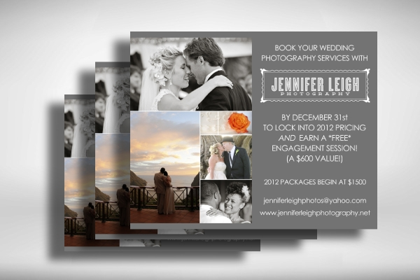 wedding photography year end promo flyer