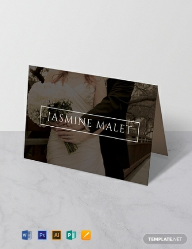 wedding place name card
