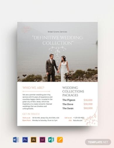 wedding planner service flyer