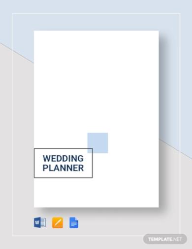 wedding planner template