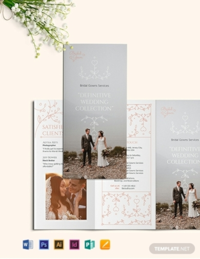 wedding planner tri fold brochure