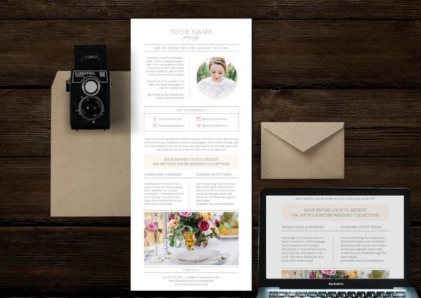 wedding planners photography email newsletter