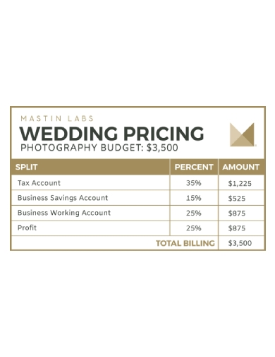 wedding pricing photography budget