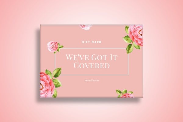 wedding rental and decor gift card