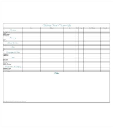 wedding vendor contact list1
