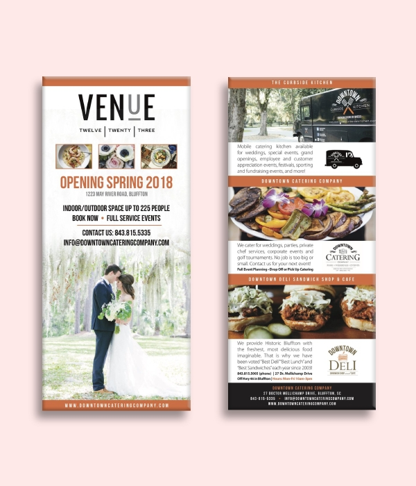 wedding venue rack card