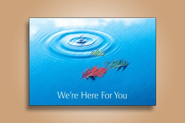 were here for you church postcard