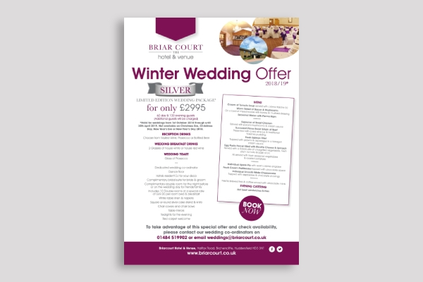 winter wedding poster