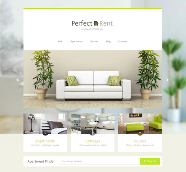 wordpress theme for real estate rental listing website