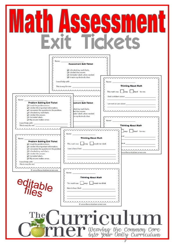exit ticket math