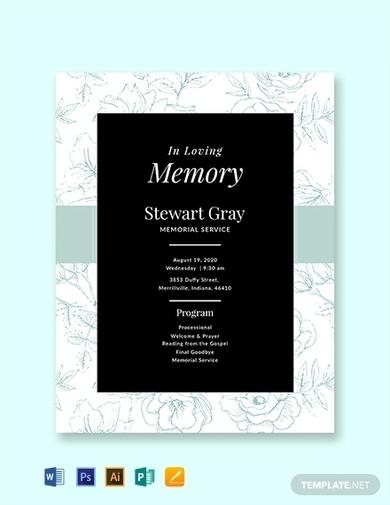 free simple memorial program