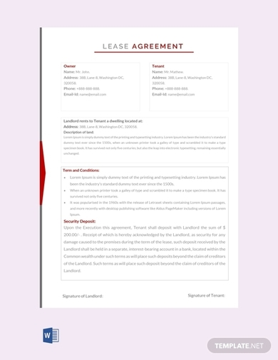 lease agreement free