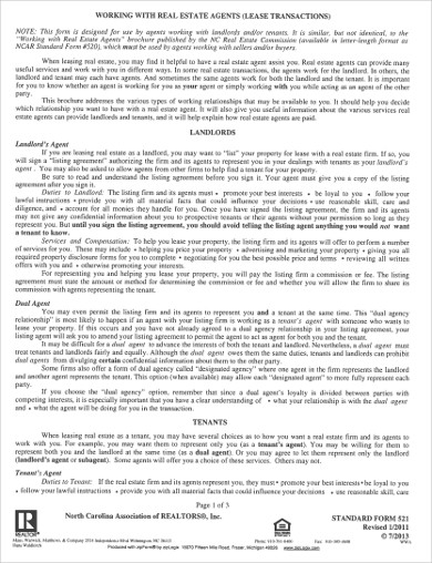 real estate agent lease agreement