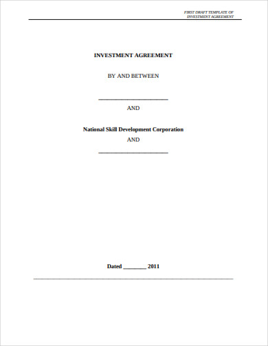 real estate investment agreement pdf