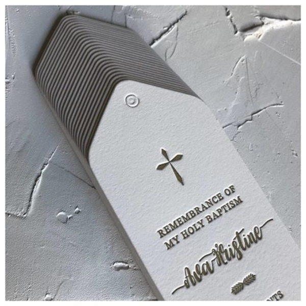 remembrance baptism bookmark
