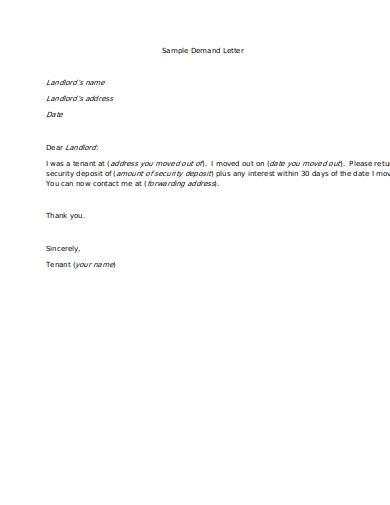 simple demand letter