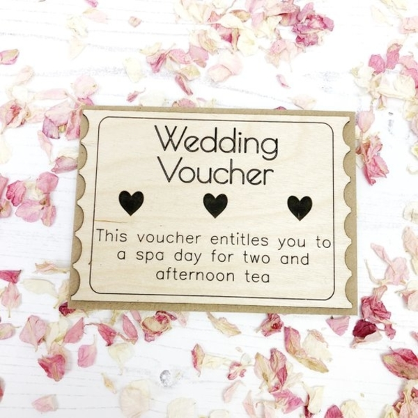 wedding spa voucher