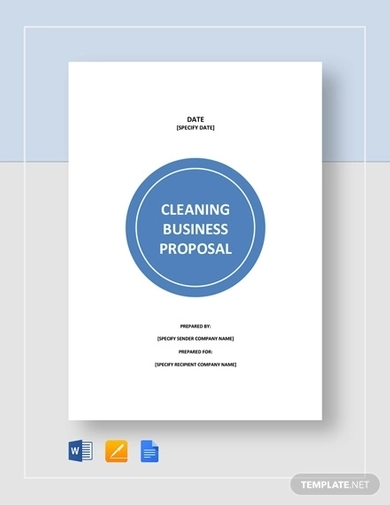 Free 5 Best Cleaning Bid Proposal Examples Templates Download Now Examples