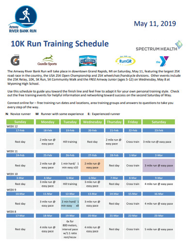 10k run training schedule