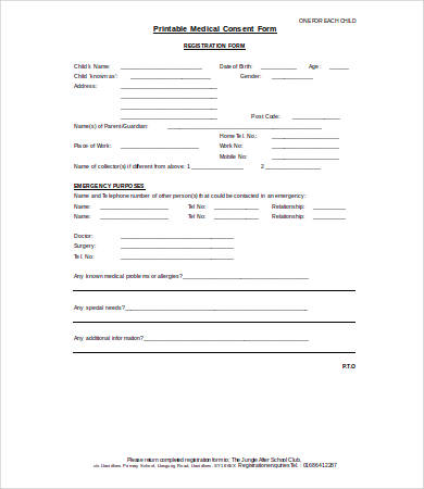 Crush image with regard to printable medical consent form